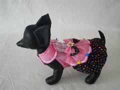 Anny's Dog's ブラウン水玉・ワンピース M