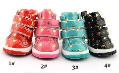 】犬の靴 犬パンプス ペット用品 四つ足 ハット柄付け 履きやすく