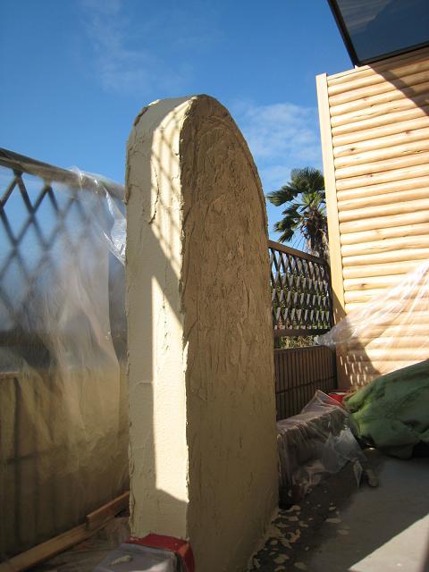 立水栓&ファウンテンの塗壁仕上げ