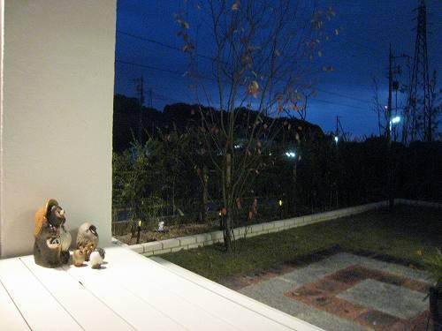 ガーデンテラスからお庭を眺めた景色