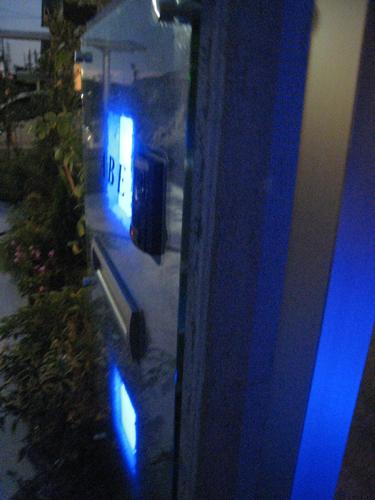 カクテルブロックのブルーの光