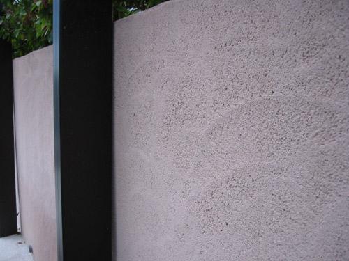 塗り壁のアップ
