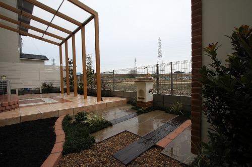 カンナキュートのある庭