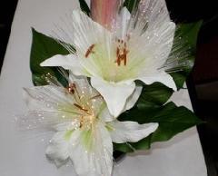 光ファイバー造花「ルミナス百合」