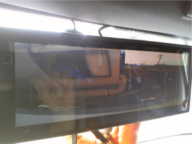 Dodgeにミラーモニターとバックカメラ取り付け例