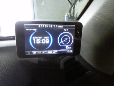レガシィツーリングワゴンのレーダー探知機取り付け例