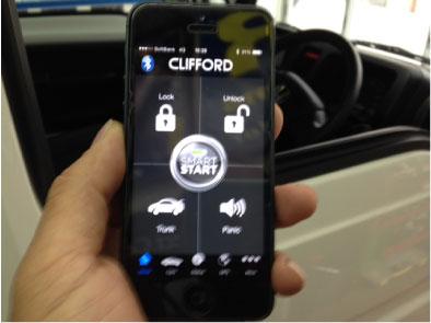 アクティトラックにCLIFFORD&SMART-PUSH取り付け例