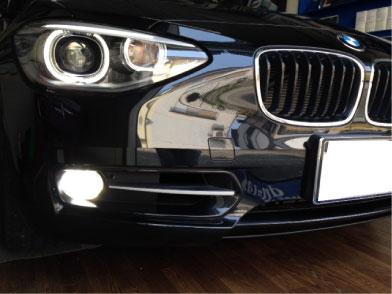 BMW120i(F20)のフォグにLED取り付け例