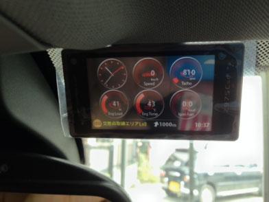 BMW X3(F25)のレーダー探知機取り付け例