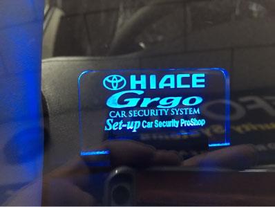 ハイエースのGrgo取り付け例