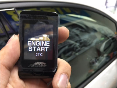 プリウス(ZVW50)のエンジンスターター取り付け例