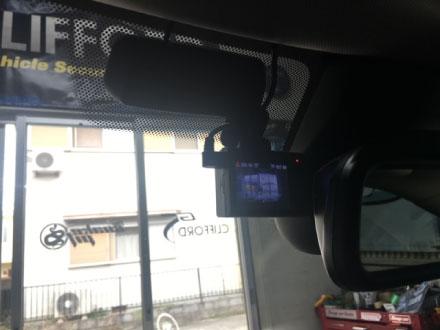 MINICLUBMANのドライブレコーダー取り付け例