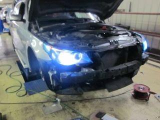 BMW E60 ヘッドランプ&HID取り付け