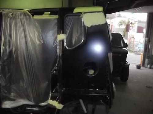ホンダN-BOX カスタム左側面修理フロントリヤドア交換リヤフェンダー交換バンパーサイドステップボンネットフード千葉埼玉柏茨城東京神奈川板金塗装修理