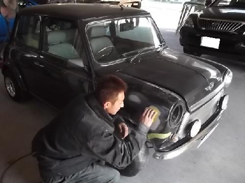 ミニ クーパー ローバー フロントフェンダー 板金塗装修理千葉松戸タキザワ自動車