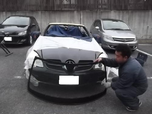 メルセデスベンツSLKCLKCLSE50G55A170Bクラスフロントガラス交換修理千葉松戸鎌ヶ谷柏タキザワ自動車