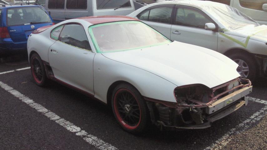 トヨタ スープラ 塗装劣化により修理 同色で全塗装 オールペイント
