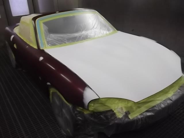ロードスター 塗装劣化修理 同色全塗装 オールペイント