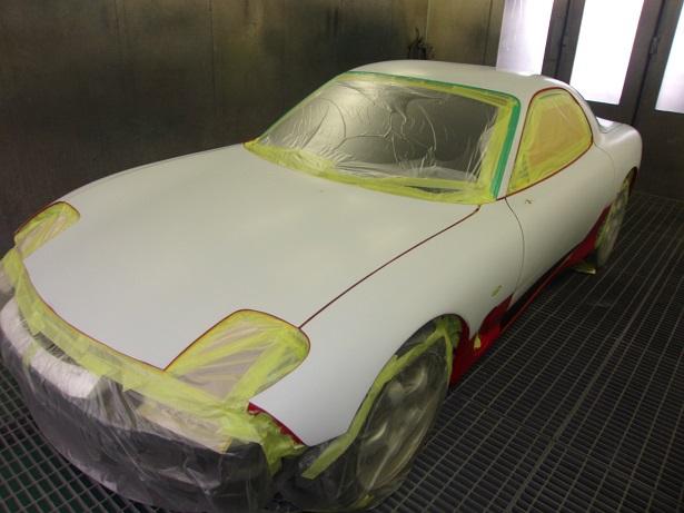 RX-7 塗装劣化により 同色オールペイント 全塗装
