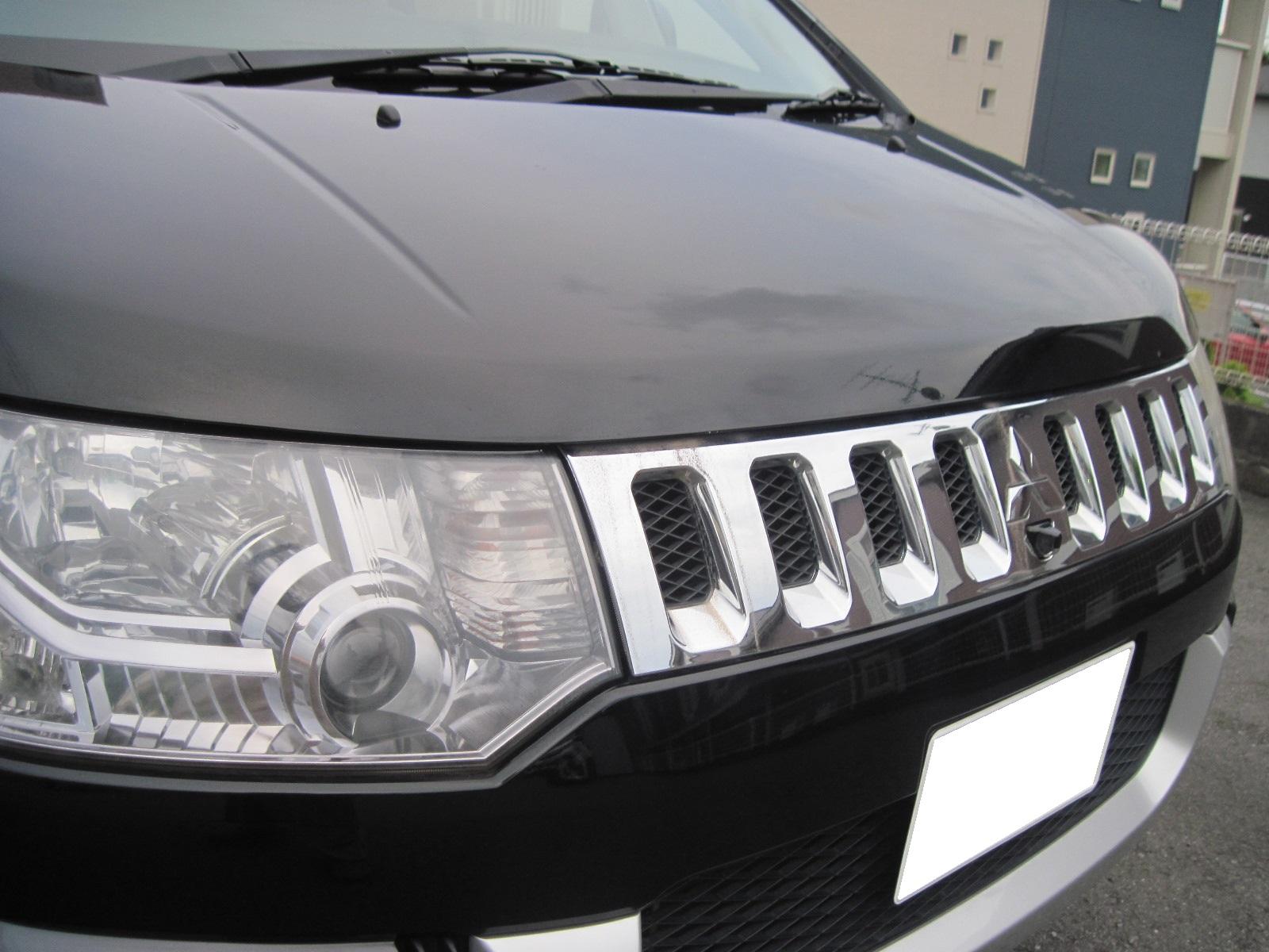 デリカ D5 フロントグリル マットブラック塗装 艶消し黒 ペイント 塗装 カスタム