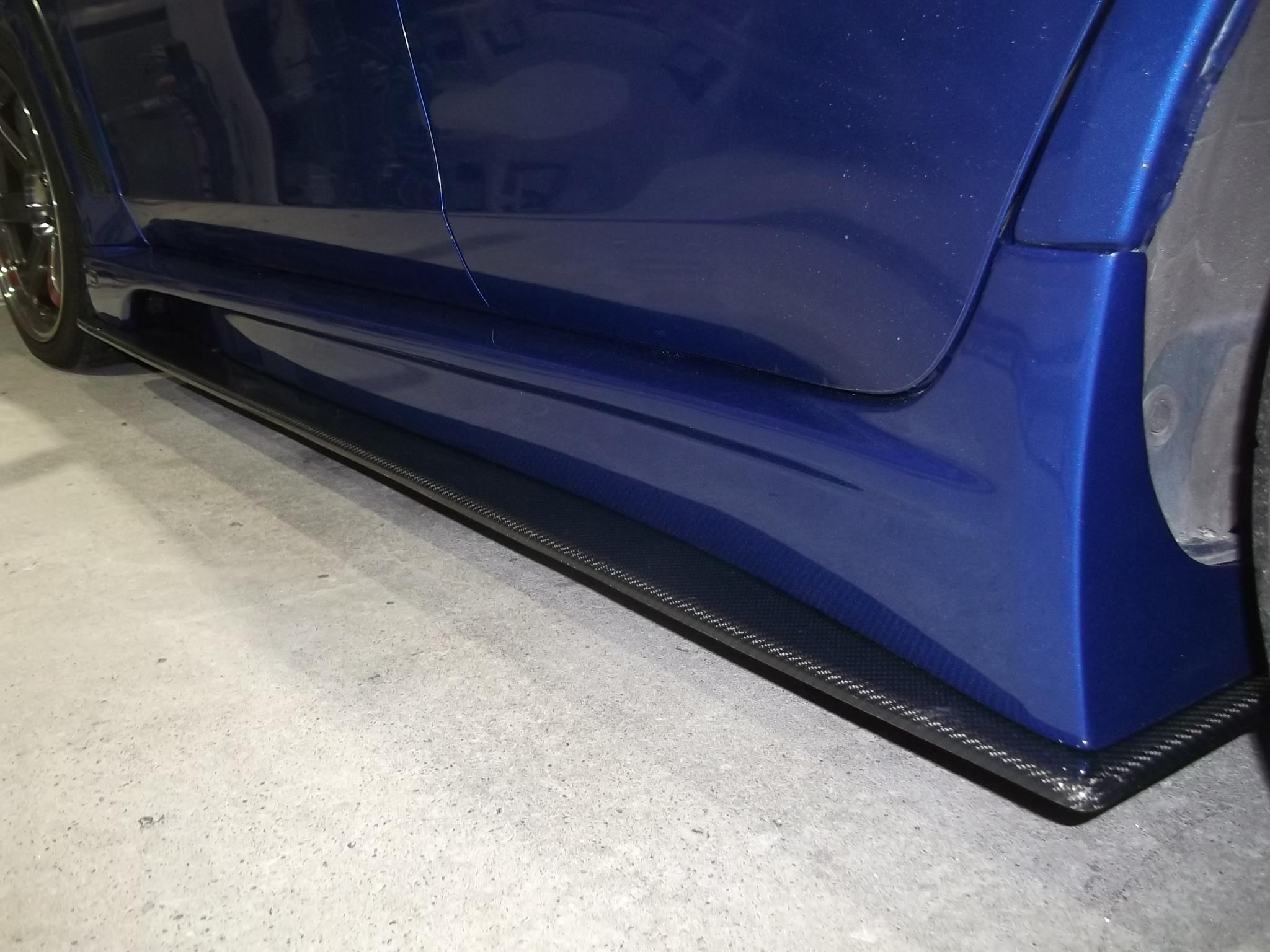 ランサーエボリューション サイドステップ取り付け塗装 カーボン