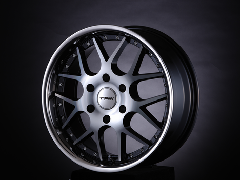 T.A.W 18X8.0J+38 Machine Black/chrome