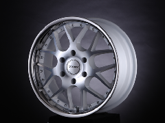 T.A.W 18X8.0J+38 Machine White/chrome