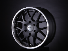 T.A.W 18X8.0J+38 Mat Black/chrome