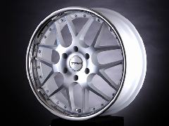 T.A.W 20X8.0J+38 Machine White/chrome