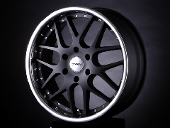 T.A.W 20X8.0J+38 Mat Black/chrome