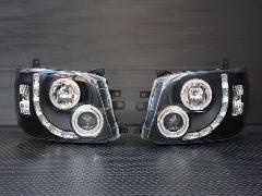 エンジェルリングヘッドライト LED RINGブラックインナー HIDタイプ レベライザー内蔵【�V型】