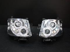 エンジェルリングヘッドライト LED RINGクロームインナー HIDタイプ【レベライザー内蔵 �V型】
