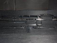 �W型 インテリアパネルキット センターコンソールタイプ 【黒木目】【ワイド】