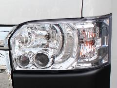 �W型 純正タイプ LEDヘッドライト クロームインナー【レべライザー内蔵】
