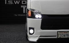 �W型 純正タイプ LEDヘッドライト ブラックインナー【レべライザー内蔵】