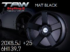 T.A.W Styling3 20X8.5J +25  Mat Black ホイール4本セット