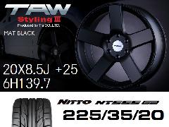 T.A.W Styling3 20X8.5J +25  Mat Black + NITTO NT555 G2 225/35/20 ホイール&タイヤ4本セット