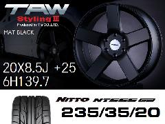 T.A.W Styling3 20X8.5J +25  Mat Black + NITTO NT555 G2 235/35/20 ホイール&タイヤ4本セット