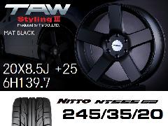 T.A.W Styling3 20X8.5J +25  Mat Black + NITTO NT555 G2 245/35/20 ホイール&タイヤ4本セット
