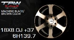 T.A.W Styling4 18X8.0J +37 MACHINE BLACK/BROWN CLEAR ホイール4本セット