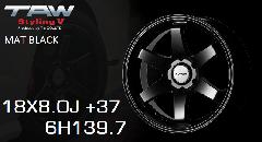 T.A.W Styling 5 18X8.0J +37 Mat Black ホイール4本セット