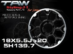 T.A.W Styling J-�T 16X5.5J +20 MATTE BLACK/RIM MACHINING ホイール4本セット