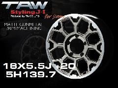 T.A.W Styling J-�T 16X5.5J +20 MATTE GUNMETAL/RIM MACHINING ホイール4本セット