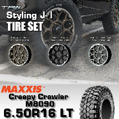 T.A.W Styling J-�T 16X5.5J +20 MAXXIS Creepy Crawler M8090 6.50R16 LT 【3色から選択】ホイール&タイヤ4本セット