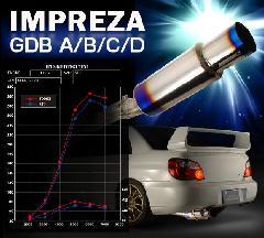 【送料無料】東名パワード TOEMI EXPREME Ti マフラー インプレッサWRX GDB(A〜D)