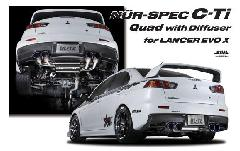 【送料無料】NUR-SPEC C-Ti Quad with Carbon Diffuser for LANCER EVO X