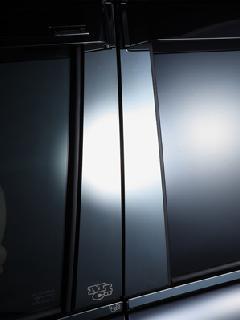 M.I.Cロゴステンレスピラー(ブラック鏡面) 2P