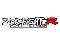 ゼロファイターロゴステッカー(ホワイト/レッド)W200
