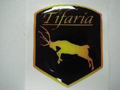 Tifariaフードバッチエンブレム(樹脂)ブラックS
