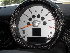 BMW MINI R55/56 タコメーターカバー・カーボン綾織